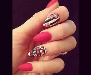 nails, nail art, and pink image