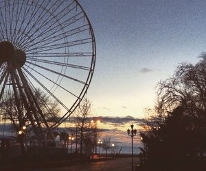 evening, ferris wheel, and france image