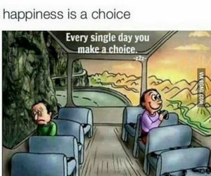 choice, happiness, and sad image