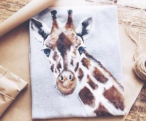 art, giraffe, and painting image