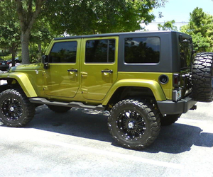 green and jeep image