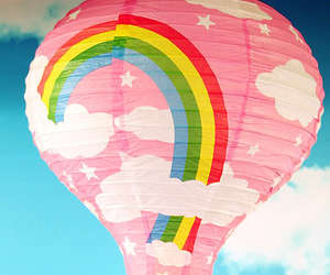 rainbow, balloon, and colorful image