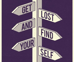 quotes, lost, and yourself image