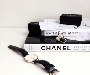chanel, fashion, and watch image