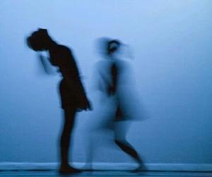 blue, dance, and dark image