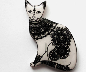 animal, cat, and brooch image
