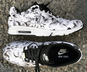 nike, air max, and black and white image