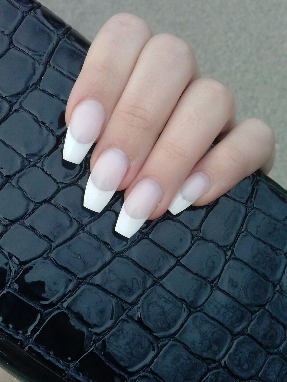 French nails shared by heartsoflana on We Heart It