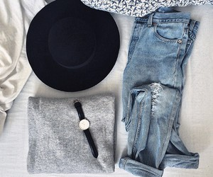 bed, fashion, and grey image