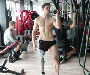 gym, boy, and Hot image