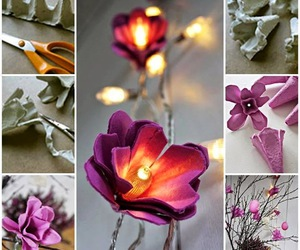 flowers, diy, and lights image