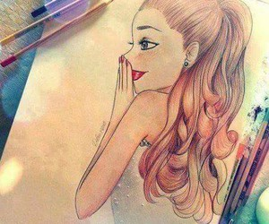 drawing, ariana grande, and art image
