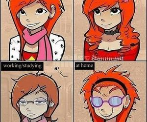 girl, funny, and date image