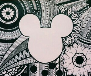 disney, draw, and mickey image