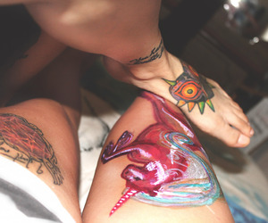 girls, tattoo, and girlswithtattoos image