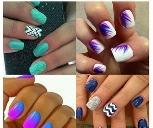 colorful, nails, and summer image