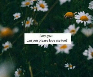 love, flowers, and please image