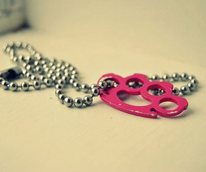 pink and necklace image