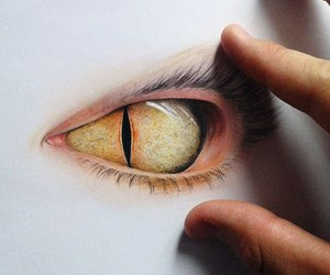 drawing, eye, and disegni image
