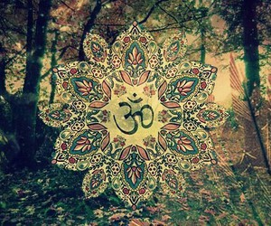 om, peace, and hippie image