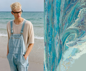 male model, overalls, and indie boy image