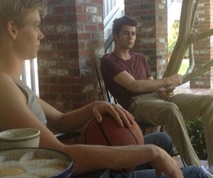 thomas sangster, baes, and dylan o'brien image