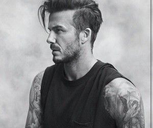 David Beckham, tattoo, and boy image