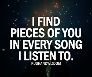 love, quotes, and music image
