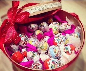 chocolate, kinder, and gift image
