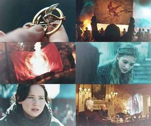 catching fire, katniss, and the hunger games image