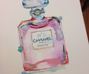 art, chanel, and pink image