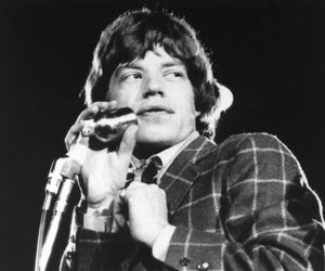 mick jagger, music, and retro image