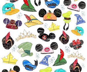 disney, hats, and wallpaper image