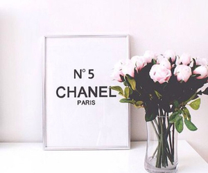 chanel, flowers, and white image