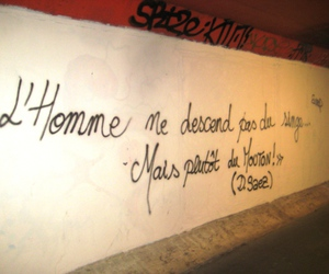 french, quote, and wall image