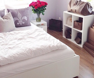 bed, bag, and decor image