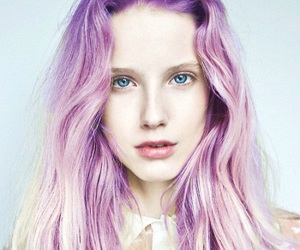 girl, hair, and purple image