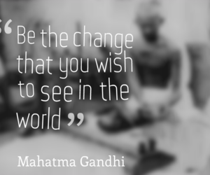 change, gandhi, and inspiring quotes image
