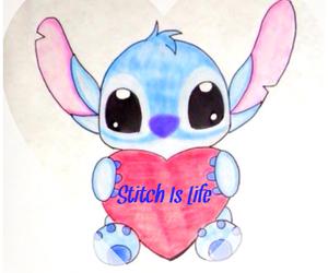 stitch, heart, and disney image