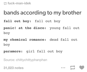 fall out boy, mcr, and my chemical romance image