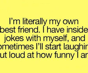 funny, best friends, and quote image