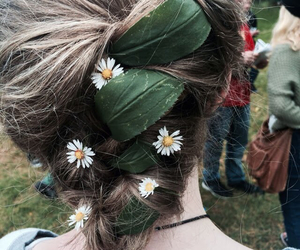 hair, outdoors, and braid image