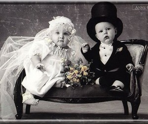 baby and wedding image
