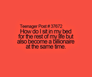 bed, funny, and teenager image