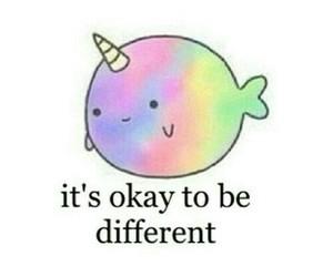 different, unicorn, and rainbow image