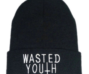 beanie, black, and black and white image