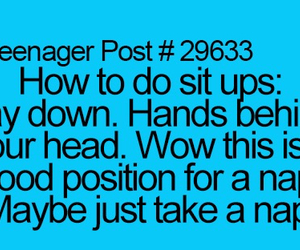 funny and sit ups image