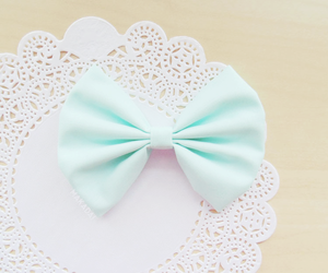 bow, accessories, and pastel image