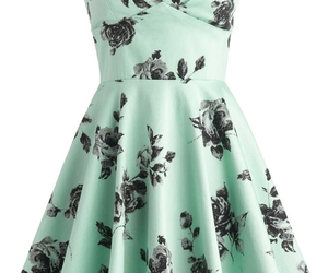 dress, flowers, and pretty image