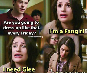 funny, glee, and lea michele image